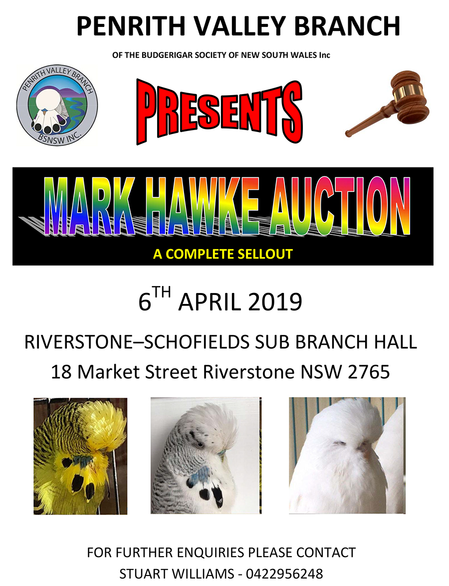 MARK HAWKE AUCTION 2019