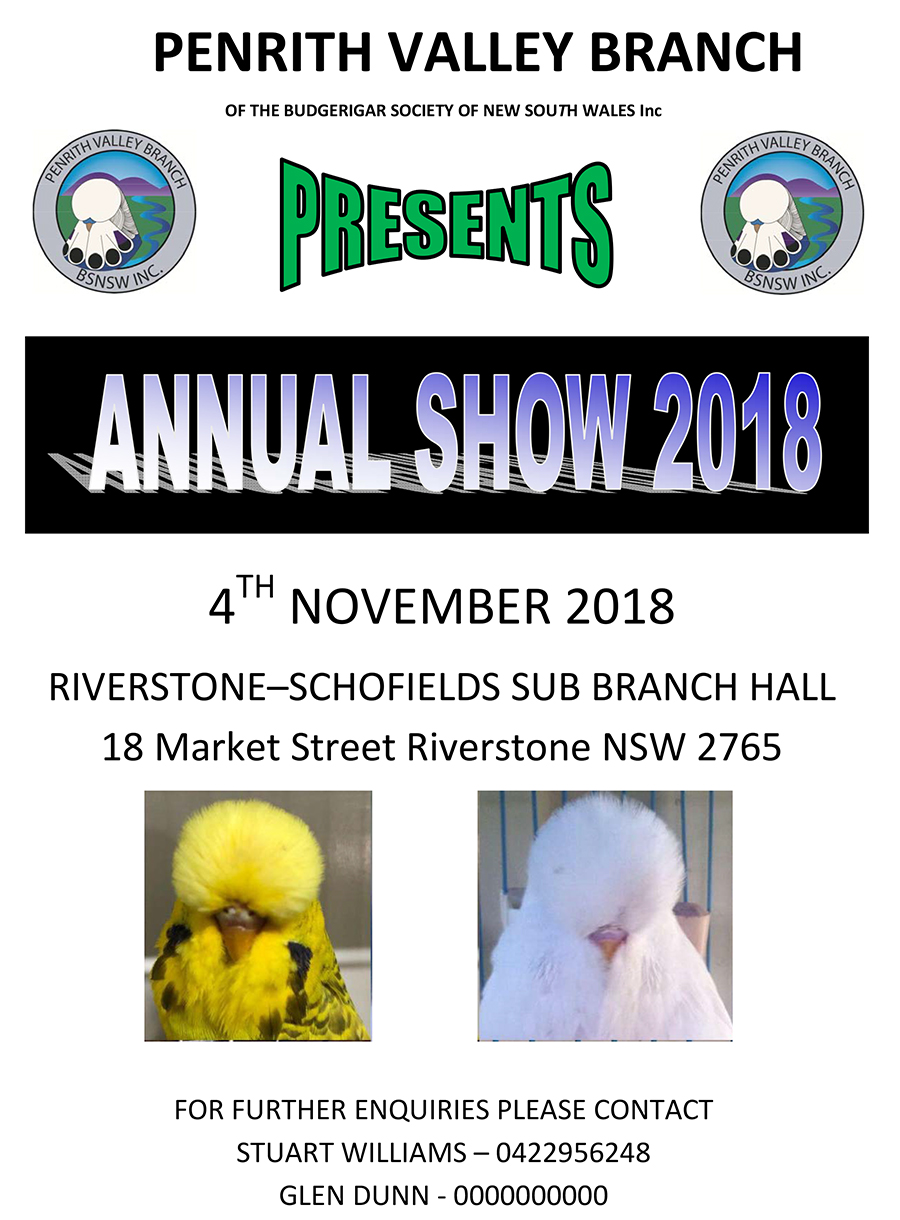 Penrith Valley Annual Show - 4th November 2018