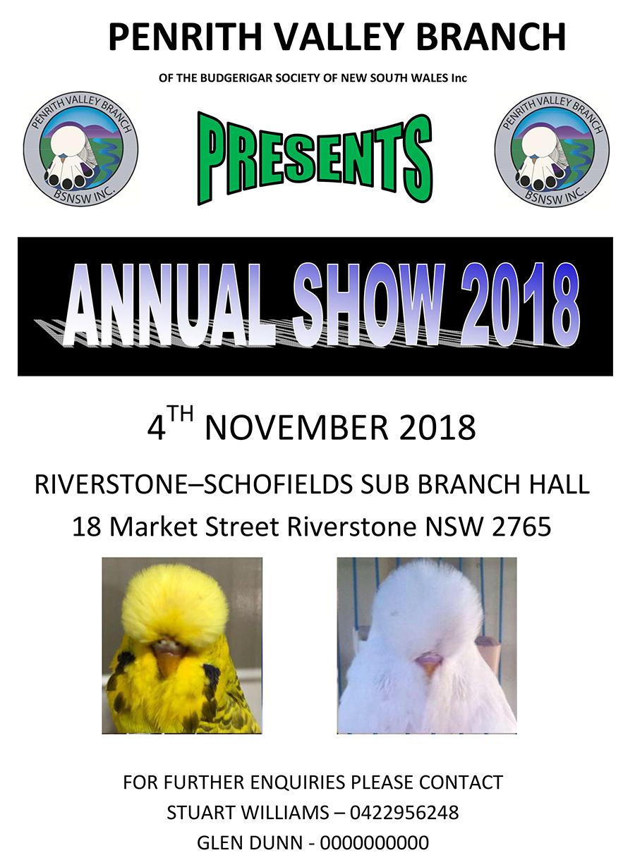 Penrith Valley Annual Show - 4th November 2018