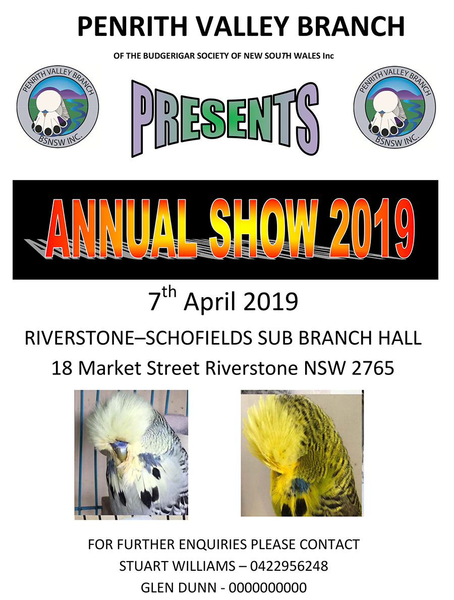Penrith Valley Annual Show – 7th April 2019